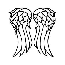 The Walking Dead Decal Daryl Dixon Wings Decal Twd Daryl Etsy