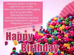 happy birthday in tagalog birthday greeting message birthday