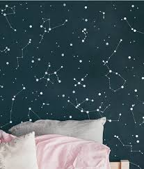 Gold Constellation Decals Celestial Decor Gold Star Etsy