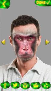 وجه القرد كاميرا الوجه حيوانات مضحكه محرر الصور For Android