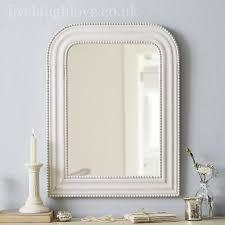 wooden arch mirror antique white