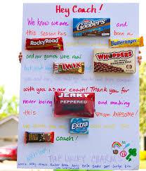 candy bar card coach gift idea