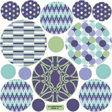 Patterned Dots Wall Decals Purple Aqua And Green Dot Wall Stickers