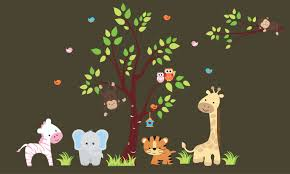 Nursery Wall Decals Baby Room Stickers Safari Decals Removable Nurserydecals4you