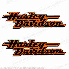 Harley Davidson Fuel Tank Motorcycle Decals Set Of 2 Style 2