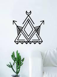 Geometric Triangle Arrows Moon Art Wall Decal Sticker Vinyl Living Roo Boop Decals