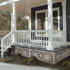 2 Ft H X 4 Ft W Fretwork Fence Panel In 2020 Front Porch Design Porch Design Front Porch Railings