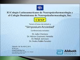 Colegio Dominicano de Neuropsicofarmacología, Inc. Disertación ...