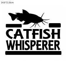 14 6 11 8cm Catfish Whisperer Car Sticker Decor Car Styling Vinyl Decal Buy 2 Get 1 Extra Wish