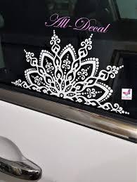 Amazon Com Mandala Car Decal Mandala Sticker Mandala Vinyl Decal Sticker Flower Decal Handmade