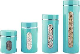 home basics 4 piece glass canister