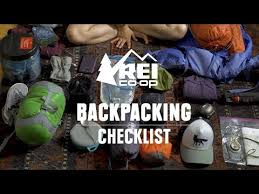 backng gear list what to bring on