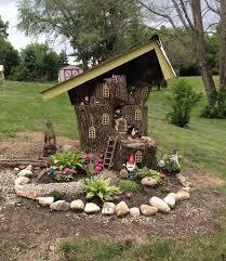 diy magical tree stump fairy garden