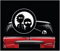 Rick And Morty Window Decal Sticker Custom Sticker Shop
