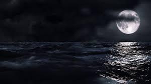 منظر البحر والقمر اثناء الليل مقاطع للمونتاج Youtube