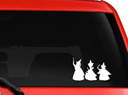 Amazon Com Mono Decals Disney Sleeping Beauty Fairy Godmothers Flora Fauna And Merryweather Car Truck Window Laptop Macbook Decal Sticker 6 White Automotive
