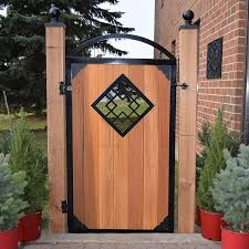 11 Geo Style Insert Powder Coated Black For Wood Etsy In 2020 Wood Fence Design Wooden Fence Gate Fence Gate Design