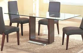 wooden table with glass top romac