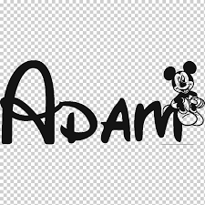 Mickey Mouse Minnie Mouse Walt Disney World The Walt Disney Company Font Personalized Car Stickers Text Logo Monochrome Png Klipartz