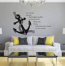 Nautical Wall Decal Let Your Dreams Set Sail Removable Sticker Rope Boat Marine Wall Decals Stickers Home Furniture Diy Cientificafest Cientifica Edu Pe