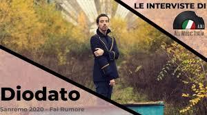 Diodato Intervista Sanremo 2020 Fai Rumore - YouTube
