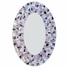 pink and purple mosaic wall mirror