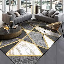 modern metal golden carpets grey black