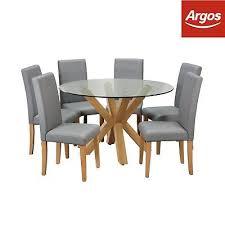 argos home alden glass round table