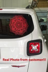 Mandala Car Decal Yoga Vinyl Sticker Rear Window Sticker Etsy