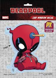 Deadpool Car Window Decal Young Toys Collectibles Marvel Comics Collectibles Blue Ox Games