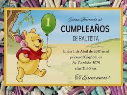 20 Winnie Pooh Invitacion Infantil Cumpleanos Fiesta Disney