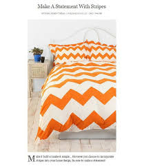 chevron bedding orange duvet covers
