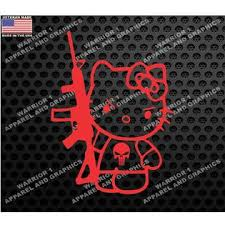 Oracal Hello Kitty Ar 15 Punisher Tactical Car Truck Laptop Window Decal Veteran Made