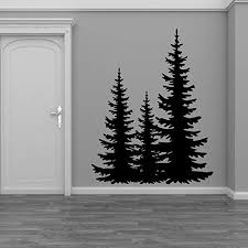 Amazon Com Pine Evergreen Trees Vinyl Home Decor Wall Decal Sticker Handmade