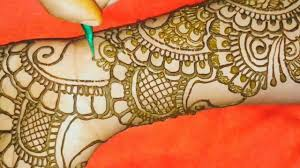 dulhan mehndi design front and back
