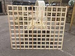 6x5 Heavy Duty Squared Trellis Fence Topper Lattice Raw Wood Rrp 35 Ebay