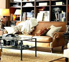 pottery barn leather sofa elegant sofas