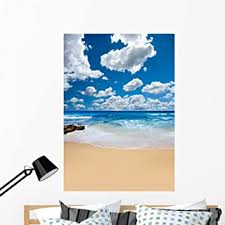 Amazon Com Wallmonkeys Summer Beach Wall Decal Peel And Stick Graphic Wm190634 48 In H X 34 In W Home Kitchen