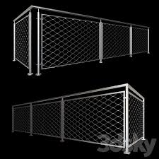 3d Models Fence Railing Mesh Stainless Steel Cable