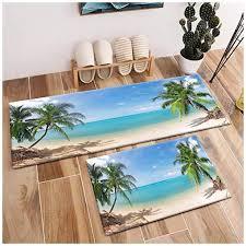 area rug set palm trees on tropical