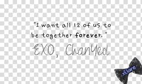 exo k chanyeol quote transparent background png clipart hiclipart