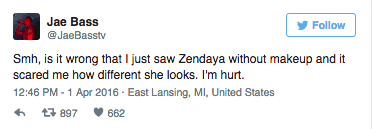 zendaya slams guy who s hurt by her
