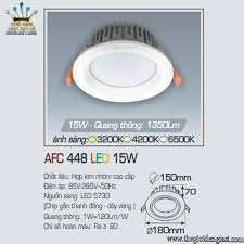 Đèn LED Âm Trần Anfaco AFC448 15W ɸ180