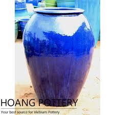 aqua blue large ceramic flower pots