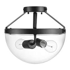 globe electric belsize semi flush mount