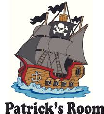 Pirate Ship Sailing Personalized Name Custom Names Pirate Ship Wall Decals Boys Room Pirates Ships Kids Decor Sticker Room Decoration For Bedrooms Stickers Sticker Boy Designs Size 20x20 Inch