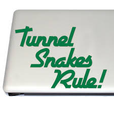 Tunnel Snakes Rule Retro Video Game Vinyl Decal Sticker Free Us Shipping For Car Laptop Tablets Etc