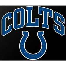 Indianapolis Colts Full Color Die Cut Transfer Decal 6 X 6
