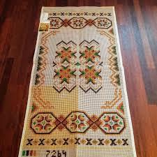 rug hooking canvas boho rug pattern