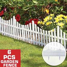 Big Discount Fc4bf7 6pcs 800x520mm Plastic Fence Courtyard Indoor Garden Fence Kindergarten Flower Garden Vegetable Small Fence Christmas Decoration Cicig Co